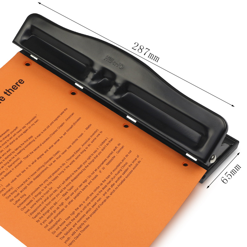 Metal 3 / 4 Hole Punch Ring Album Paper Cutter Adjustable Paper Punch A4 Puncher Scrapbooking DIY Tools Office Binding Supplies