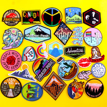 Jurassic Park Patches For Clothes Iron On Patch Scenery Applique Embroidered Clothing Accessories