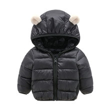 Fashion Autumn Winter Boys Jackets Warm Cotton Thick Windbreaker Coats Baby Girls Casual Outwear Children Hooded Six Colors Hot недорого