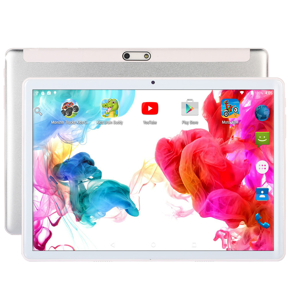 New 10 Inch 3G 4G Phone Call SIM Card Octa Core FM WiFi Tablet Pc Android 7.0 WIFI Bluetooth 4GB+64GB IPS LCD Display