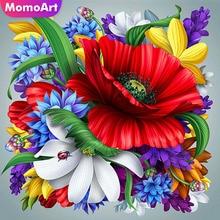 MomoArt DIY Diamond Embroidery Flowers Picture Of Rhinestones Painting Cross Stitch Needlework Gift Wall Decor