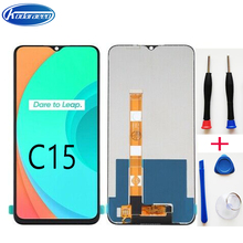 Original 6.5'' For Realme C15 RMX2180 LCD Display Touch Screen Assembly With Frame