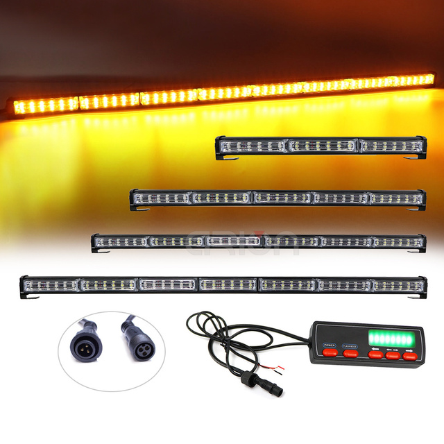 """12 """"59"""" 180W araba kamyon LED çakarlı lamba Bar itfaiyeci polis yanıp sönen acil uyarı ışıkları kırmızı mavi sarı beyaz yeşil"""