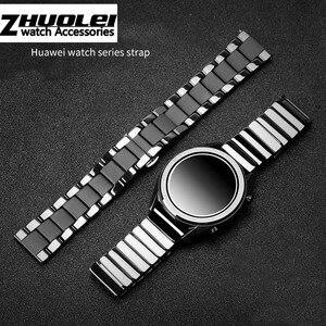 Image 2 - Seramik watchband için GT2 GT kayış glory sihirli rüya metal seramik akıllı spor saat watch2 Pro bilezik 42/ 46m