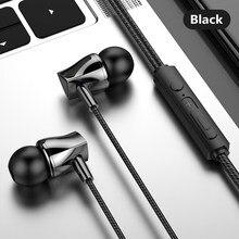 Słuchawki douszne z mikrofonem Super Bass zestaw głośnomówiący Stereo słuchawki douszne do Samsung S6 S7 S8 S9 S10 dla Xiaomi Mi 9 8 czerwony mi