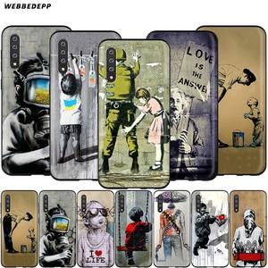 Webbedepp Street Art Banksy Graffiti Case for Samsung Galaxy S7 S8 S9 S10 Plus Edge Note 10 8 9 A10 A20 A30 A40 A50 A60 A70(China)