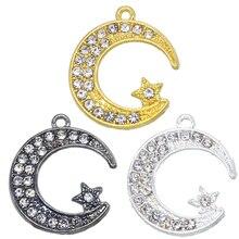 Connector-Accessories Charm Rhinestones-Allah Islamic Jewelry Muslim for Cz Crescent