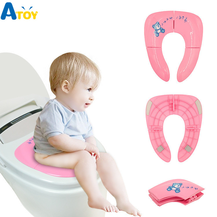Baby Folding Potty Seat Toddler Portable Toilet Training Seat Children Urinal Cushion Children Travel Potty  Pad Mat