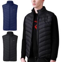 Модный Электрический нагревательный жилет мужской Электрический теплый жилет перезаряжаемый жилет без рукавов chalecos para hombre куртка