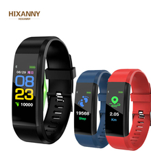 цена на New 115 Plus Smart Wristband Blood Pressure Watch Fitness Tracker Heart Rate Monitor Band Smart Activity Tracker Sports Bracelet