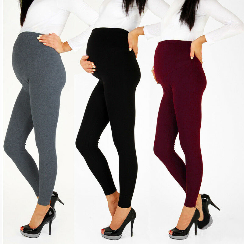 Pregnancy Clothes Pants Pregnant Women Maternity Leggings Solid Ladies Warm Support Belly Trousers