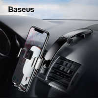 Baseus Metal Car Phone Mount Holder For iPhone Samsung Foldable Gravity Mobile Phone Holder for Dashboard Paste Car Holder Stand