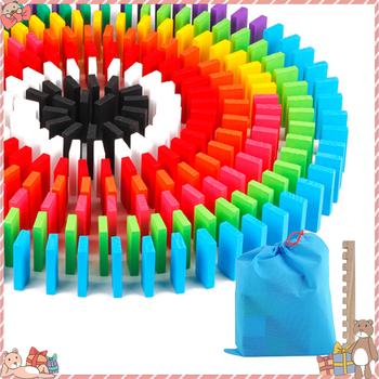 120 240pcs Domino zabawki drewniane zabawki dla dzieci kolorowe klocki Domino zestawy wczesna nauka Domino gry edukacyjne zabawki dla dzieci tanie i dobre opinie Domino Blocks 5-7 lat 14Y 2-4 lat Dorośli 8 ~ 13 Lat Drewna Sport TM01730MU Fomino wood 4 4*2*0 7cm Fomino game Make different pattern