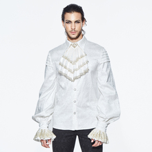 Shirts Men Clothing Man Blouse Long-Sleeve White Casual Fashion for High-Quality Gothic