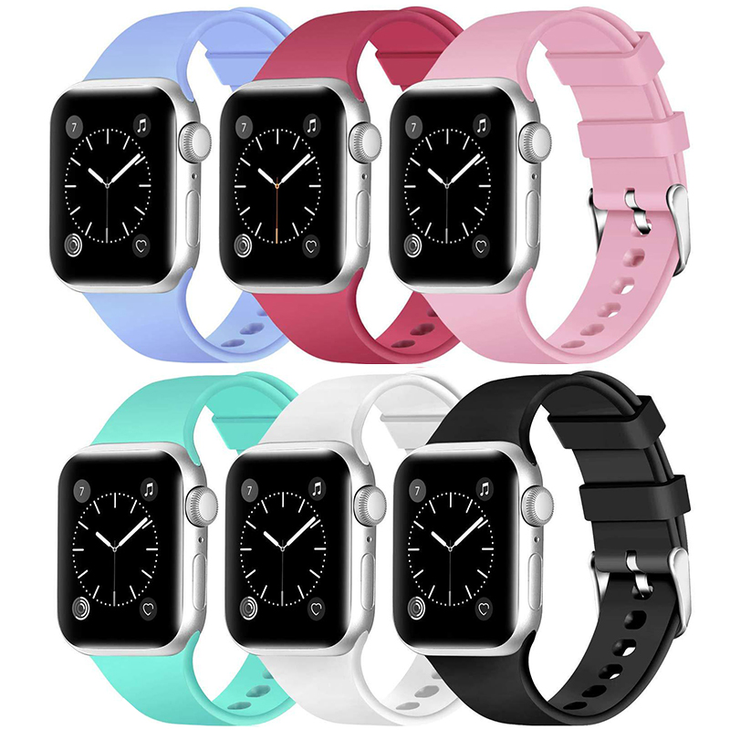New Apple watch strap For iwatch Series 38mm 40mm 42mm 44mm Silicone strap For Apple watch 6 SE 5 4 3 2Bracelet replacement band