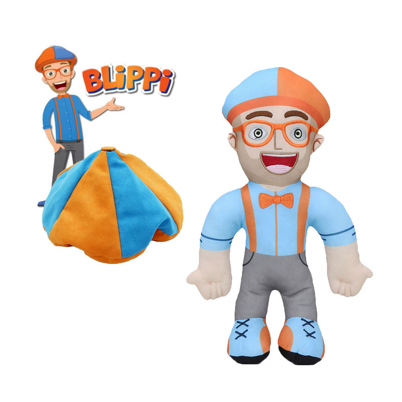 30cm Blippi Plush Doll Soft Stuffed Toy For Baby Gift Cosplay Prop Cartoon Stuffed Toys Doll Educational Kids Children Christmas