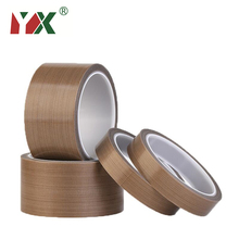 цены YX PTFE 300 Degree Brown Insulation Vacuum Sealing Machine Insulation High Temperature Heat-Resistant Adhesive Tape