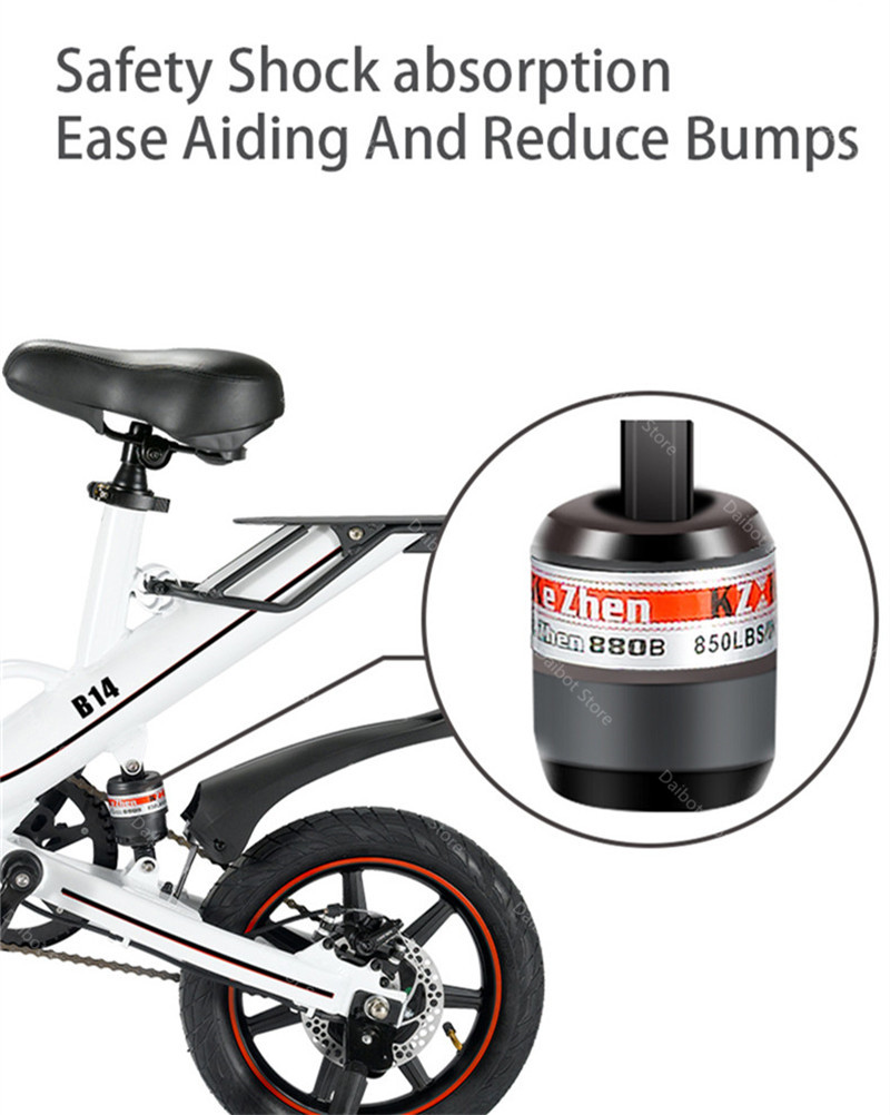 EU Stock Folding Electric bike 2 Wheels Electric Bicycles 14 Inch 400W 48V 15Ah Adult Electric Bicycle With Double Brake (9)