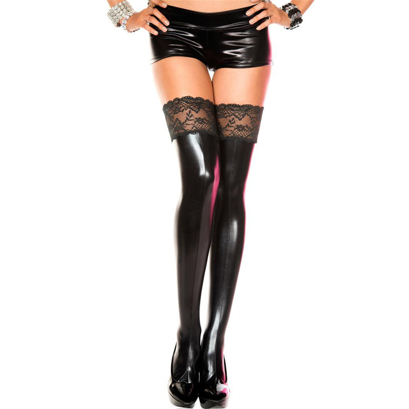 Opaque Thigh Highs, Solid Thigh High, Costume Hosiery