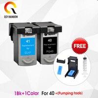 QSYRAINBOW Kompatibel PG 40 CL 41 PG40 41 Tinte Patrone für CANON iP1200 mp140 iP1600 iP1700 iP1800 iP2200 iP2400 MP150