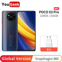 Mais novo poco x3 pro 128gb/256gb nfc smartphone snapdragon 860 octa núcleo 120hz 6.67 polegada dotdisplay 5160mah 33w carga rápida