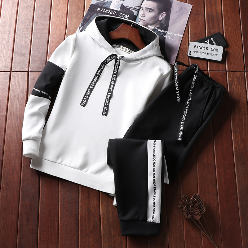 New Men's Sets Fashion Sportswear Tracksuits Sets 5XL Men Clothes Gyms Hoodies+Pants Casual Streetwear Sports Suits Hoodie AF509