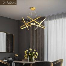 Artpad Золотая/черная светодиодный ная люстра освещение для