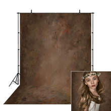 Dark Brown Abstract Photography Portrait Backdrop Solid Texture Adult Child Birthday Vinyl Background Old Art Photo Studio