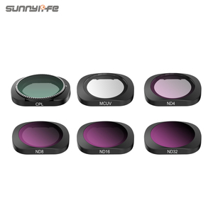 Image 1 - 3/4/6 Pcs Sunnylife FIMI PALM MCUV CPL ND ND4 ND8 ND16 ND32 Lens Filter Set For FIMI PALM Gimbal Camera Accessories