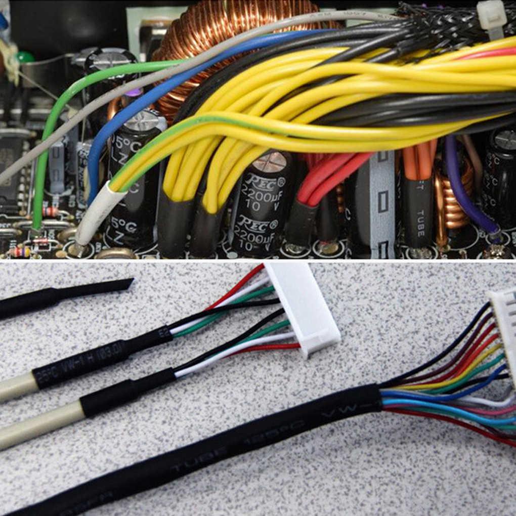 127/328/530 ピース/セット熱収縮チューブ電気ラップワイヤーケーブルスリーブ pe 2:1 絶縁スリーブ盛り合わせ