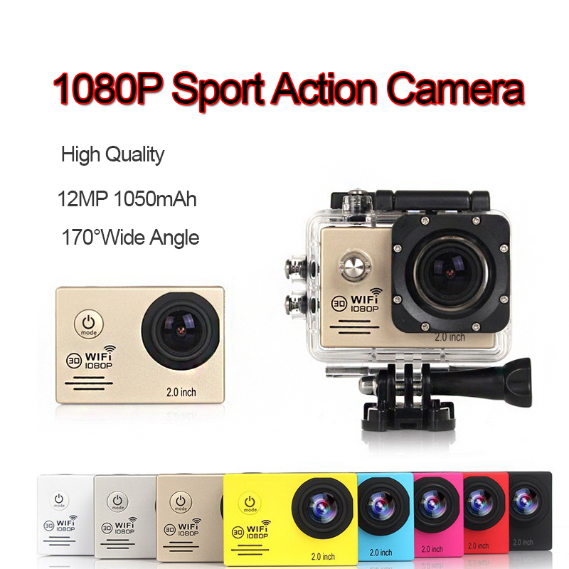 Volle HD 1080P 30Fpbs <font><b>WIFI</b></font> Outdoor Sport Action Kamera Mini Foto Drohnen FPV Cam Wasserdichte DVR DV Video recorder Camcorder image