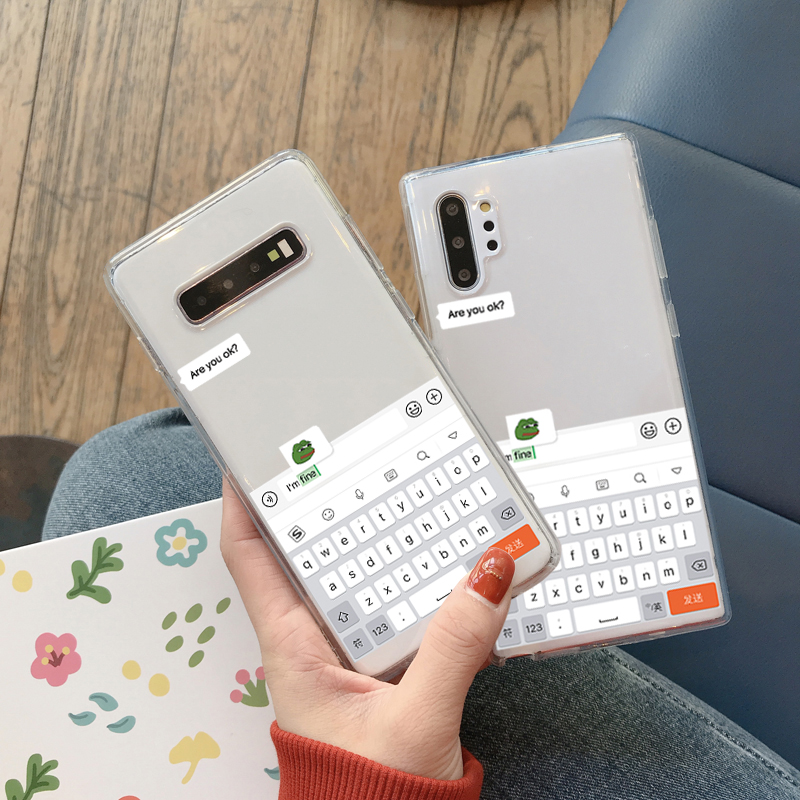 <font><b>Funny</b></font> Meme Are You OK I am fine Phone <font><b>Case</b></font> for <font><b>Samsung</b></font> <font><b>Note</b></font> 10 8 <font><b>9</b></font> plus S10 E S9 S8 S7 A30 A50 A70 A80 A90 A5 A8 A9 Soft Cover image