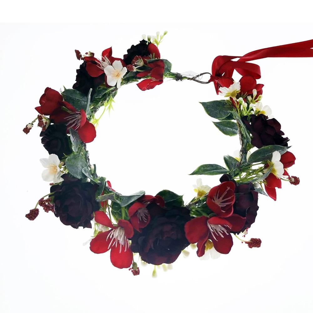 6pcs/lot Flower Crown Festival Headpiece Women Hair Accessories Headdress Crown Floral Garland Wedding Floral Headwear
