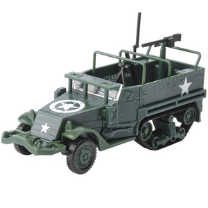 New 1:72 4D Wheeled Armored Vehicle Model Car Rubber-free Assembly Model Military Toy Car Birthday Gifts for Kids Boy