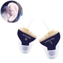 Hörgerät Mini Ältere Mini Unsichtbare Hörgerät 10A batterie Hören gerät Links Rechts ohr Blau Anhörung Verstärker