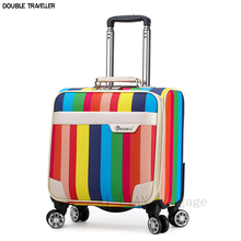 New Carry ons cabin trolley luggage bag 18inch travel suitcase on wheels waterproof oxford luggage business rolling luggage case