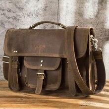 Briefcase Handbags Laptop-Bag Computer Men Bag Male Genuine-Leather for Contacts Custom-Logo