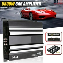 5800W 4 Channel Car Amplifier Stereo Audio Super HiFi Bass Power Amp 12V DC for Cars Amplifier Subwoofer