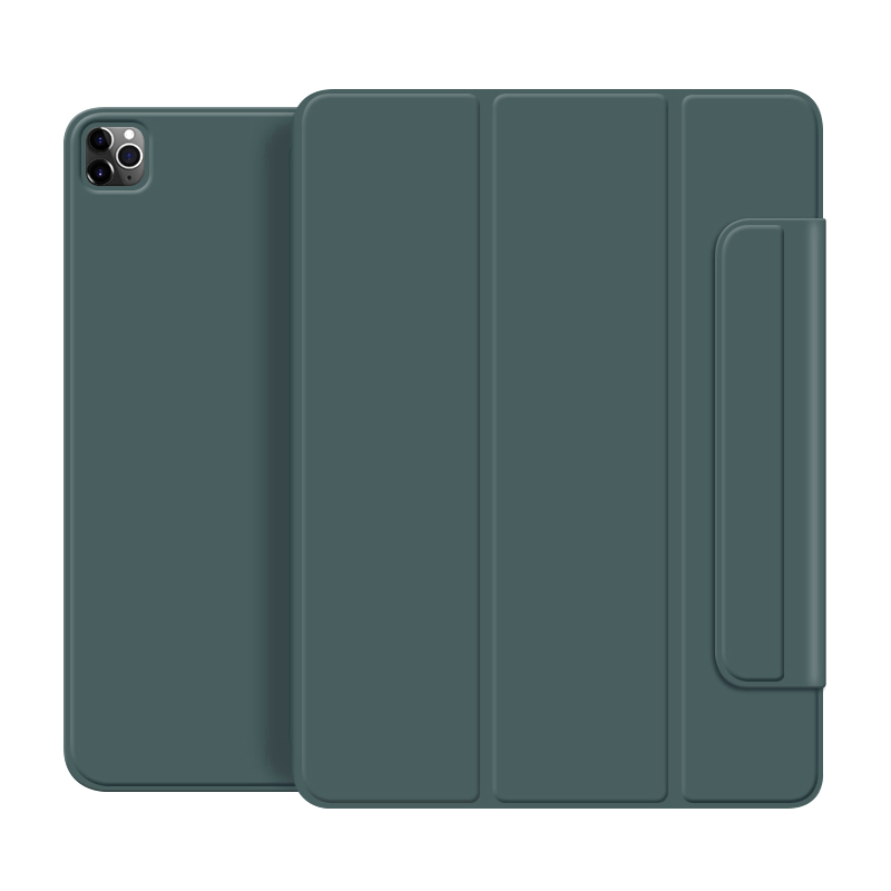Dark green White For iPad Pro 2020 12 9 inch case Smart cover Tri fold magnet Back protector Buckle