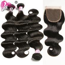 Beauty Forever Body Wave-pelo brasileño ondulado, 3 mechones con cierre, pieza libre, 100%, cabello humano Remy
