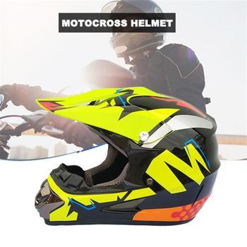 Motocross Helmet Unisex-Child DOT Kids Youth ATV Off-Road Dirt Bike Motocross Helmet Gear Combo With Mask Gloves Goggles