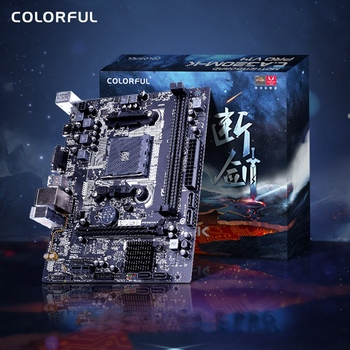 Colorful A320M-K PRO V14 Motherboard Dual Channel DDR4 2666/2400/2133MHz RAM USB3.0 SATA3.0 6Gb/S for AM4 Interface Processor