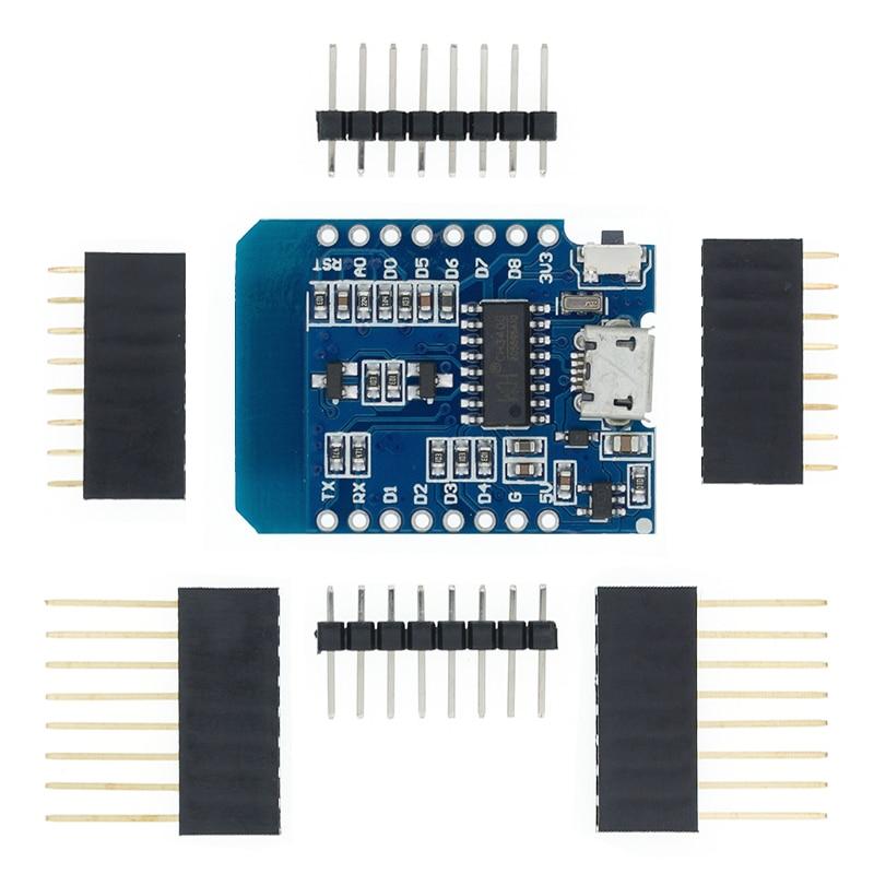ESP8266 ESP-12 ESP-12F CH340G CH340 V2 Usb Wemos D1 Mini Wifi Development Board D1 Mini Nodemcu Lua Iot Board 3.3V Met Pins 2