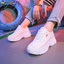 Sneakers Women Tenis Feminino 2019 Fashion Split Leather Chu