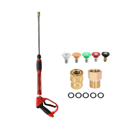 Myjka ciśnieniowa zestaw narzędzi z wymiennym przedłużeniem różdżki 5 końcówki do dyszy M22 montaż 40 Cal 5000 PSI