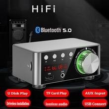 Placa amplificadora de Audio TPA3116 50WX2 HIFI, Bluetooth 5,0, Amplificador estéreo de coche, reproductor de tarjeta TF, USB, para cine en casa