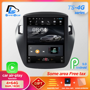 64G ROM android 9.0 navigation system vertical type radio bluetooth stereo player for Hyundai ix35 tucson  car multimedia player