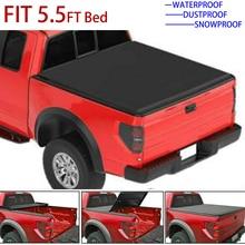 غطاء تونيو لينة ثلاثي أضعاف سيارة شاحنة غطاء للفورد F 150 04 08 5.5ft 66 بوصة قصيرة السرير