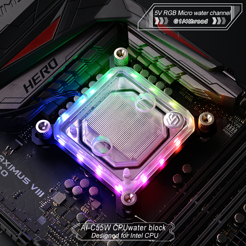 Syscooling CPU Water Block Used For Intel  LGA1150 1151 1155 1156 2011 With 5V RGB Support