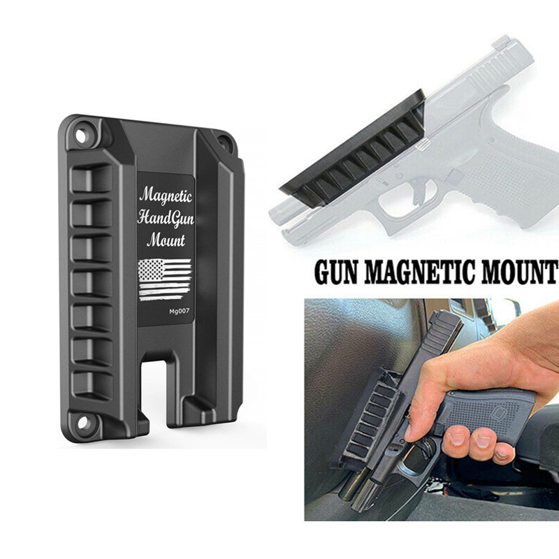Magorui Gun Magnet Mount Quick Draw Loaded Magnetic Gun Holster Concealed Gun Holder Fits Glock Springfield S&W M&P Ruger Taurus